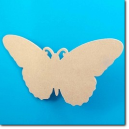 MDF Schmetterling Silhouette 25 x 13 mm.