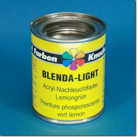 Nachleuchtfarbe BLENDA-LIGHT - 125 ml Dose.