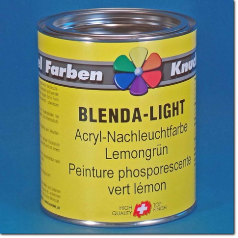 Nachleuchtfarbe BLENDA-LIGHT - 750 ml Dose.